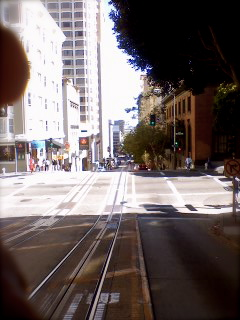 My View from the Front of the Cable Car