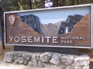 The Entrance Sign at Yosemite