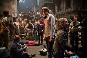 Tom Hooper on the Set of Les Miserables